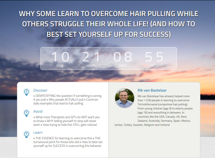 """Why some learn to overcome hair pulling while others struggle their whole life!"" (And how to best set yourself up for success)"